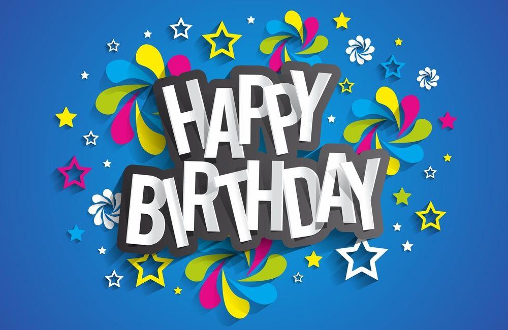 colourful happy birthday wish card