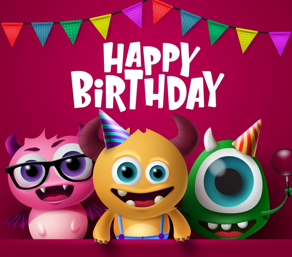 free birthday wishes images for kids
