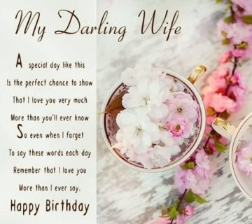 latest Happy Birthday to My Wife Poem