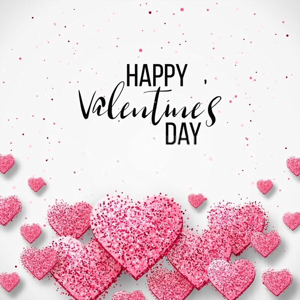 Happy valentine day festive sparkle