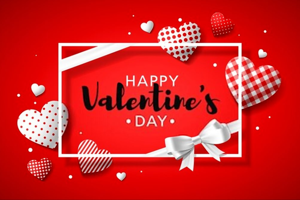 Valentines Day greeting card design