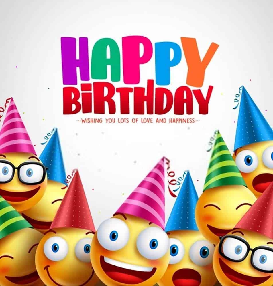 Smiley-happy birthday greeting card