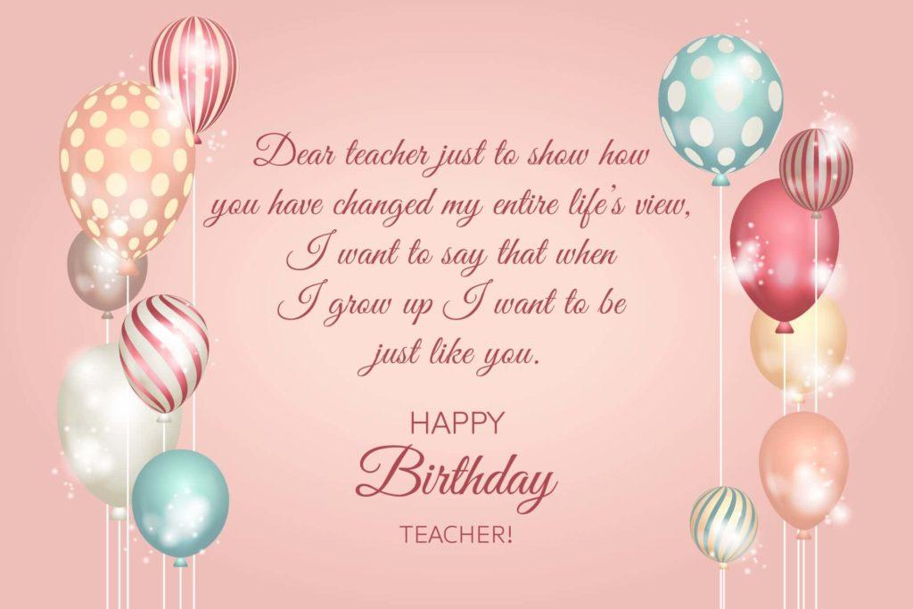 beautiful happy birthday teacher wishes