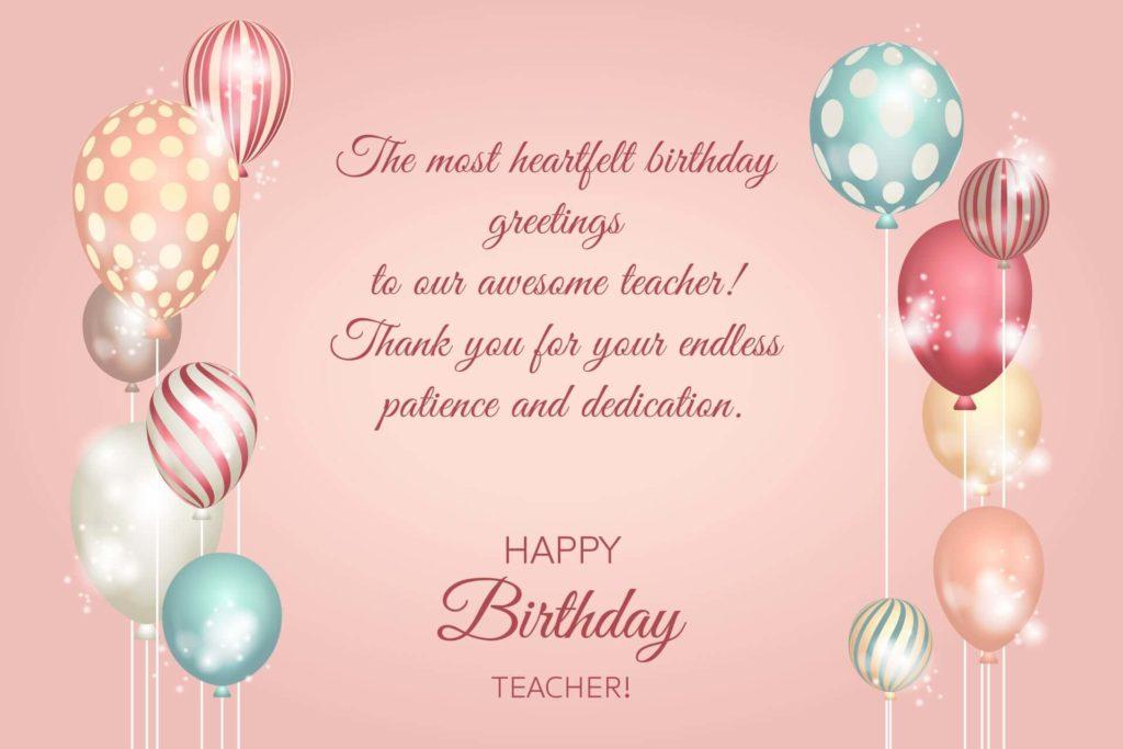 beautiful happy birthday teacher wishes wallpaper