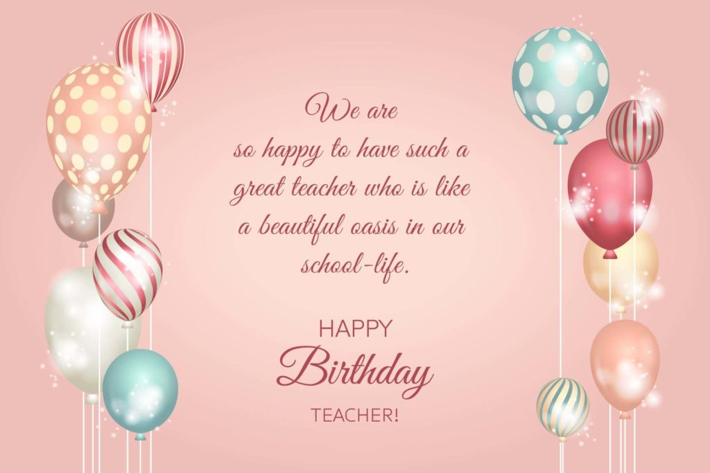 birthday teacher wishes wallpaper