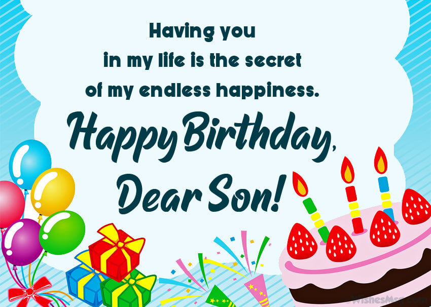 free birthday wishes for son